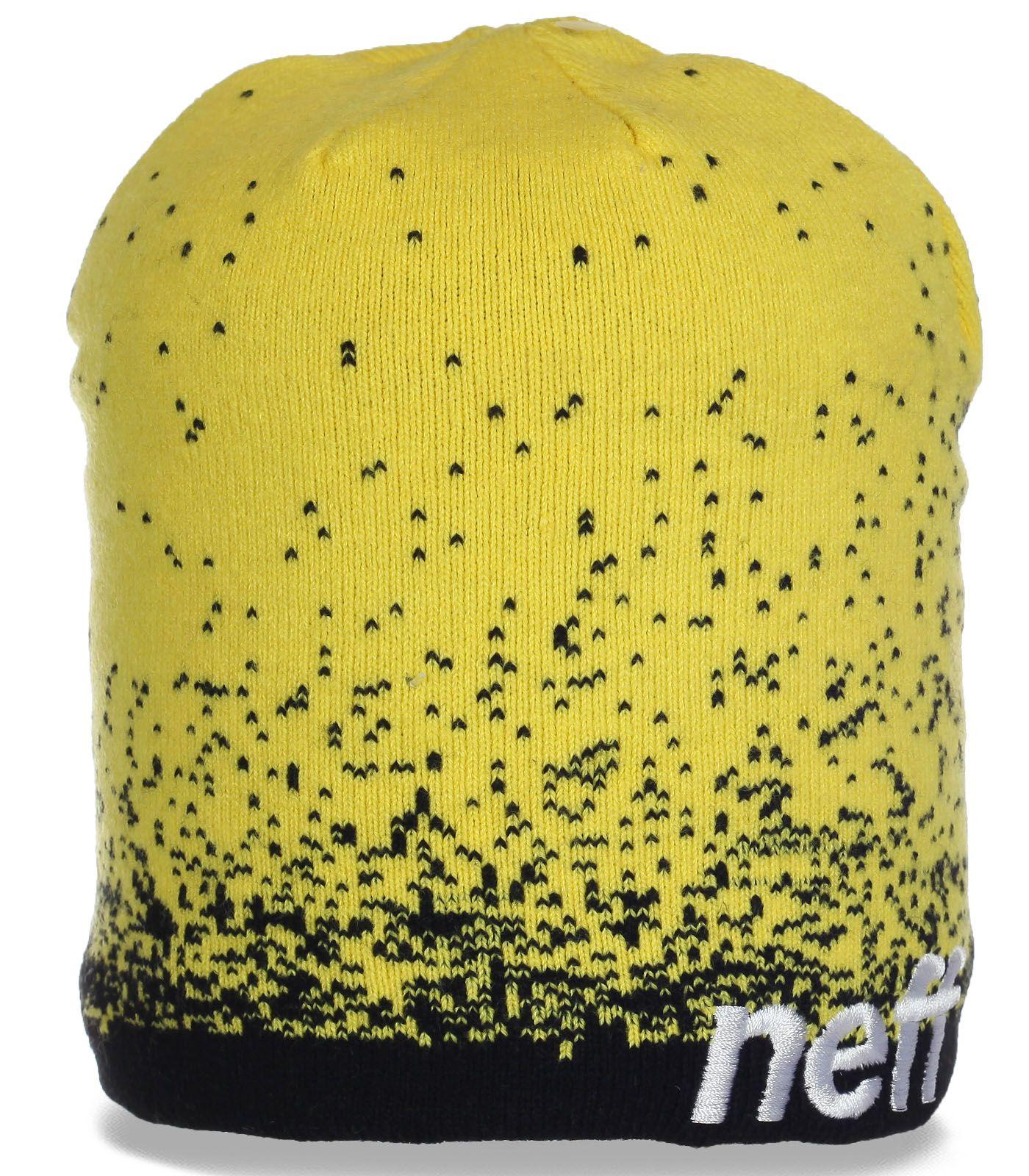 Оригинальная мужская молодежная шапка от Neff