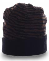 Оригинальная мужская шапка с отворотом для мужчин со вкусом