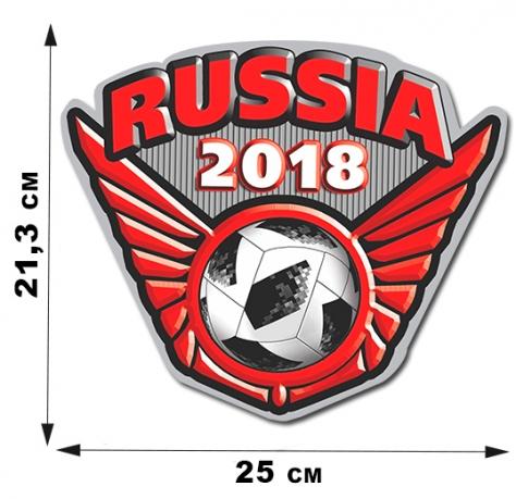 Футбольная наклейка Russia.