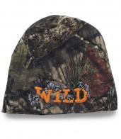 Оригинальная шапка-камуфляж Wild с енотами. Модель - само очарование! Комфорт и тепло гаранированы!