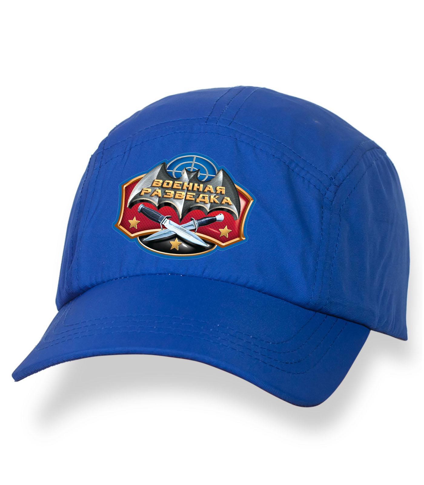Оригинальная синяя бейсболка с термонаклейкой ВОЕННАЯ РАЗВЕДКА