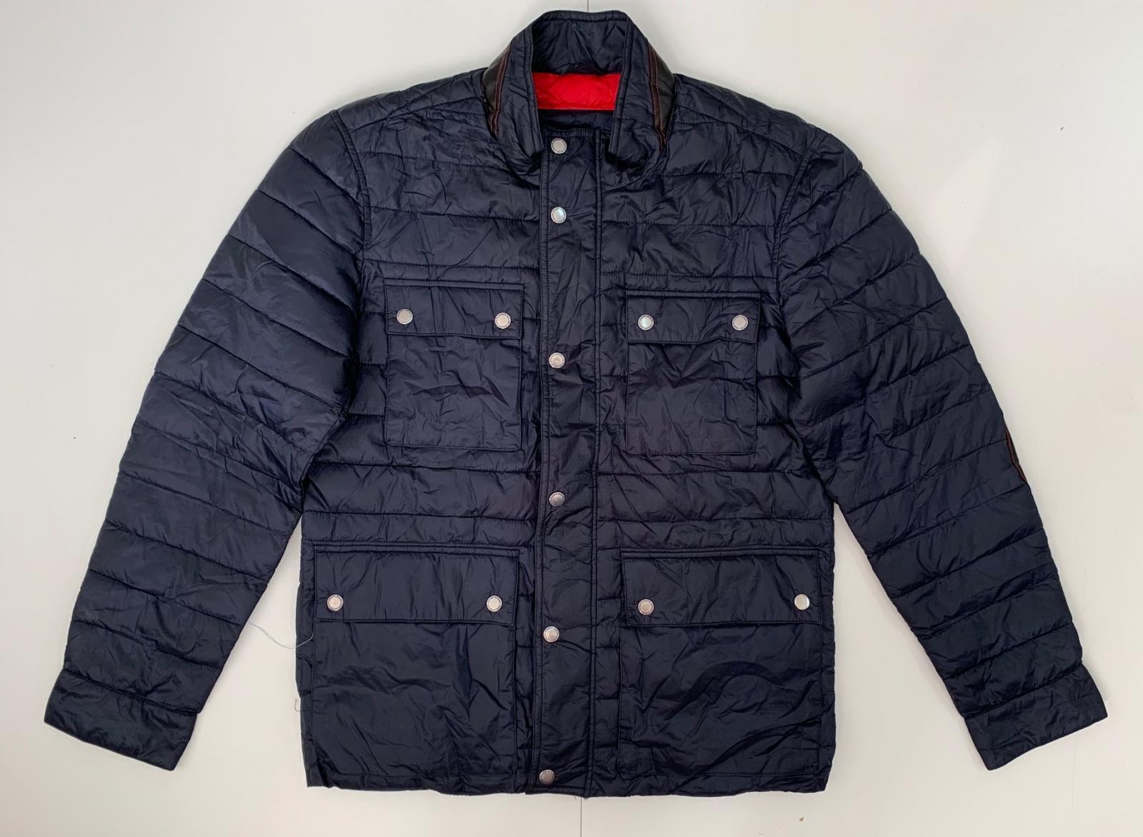 Оригинальная темно-синяя куртка для мужчин