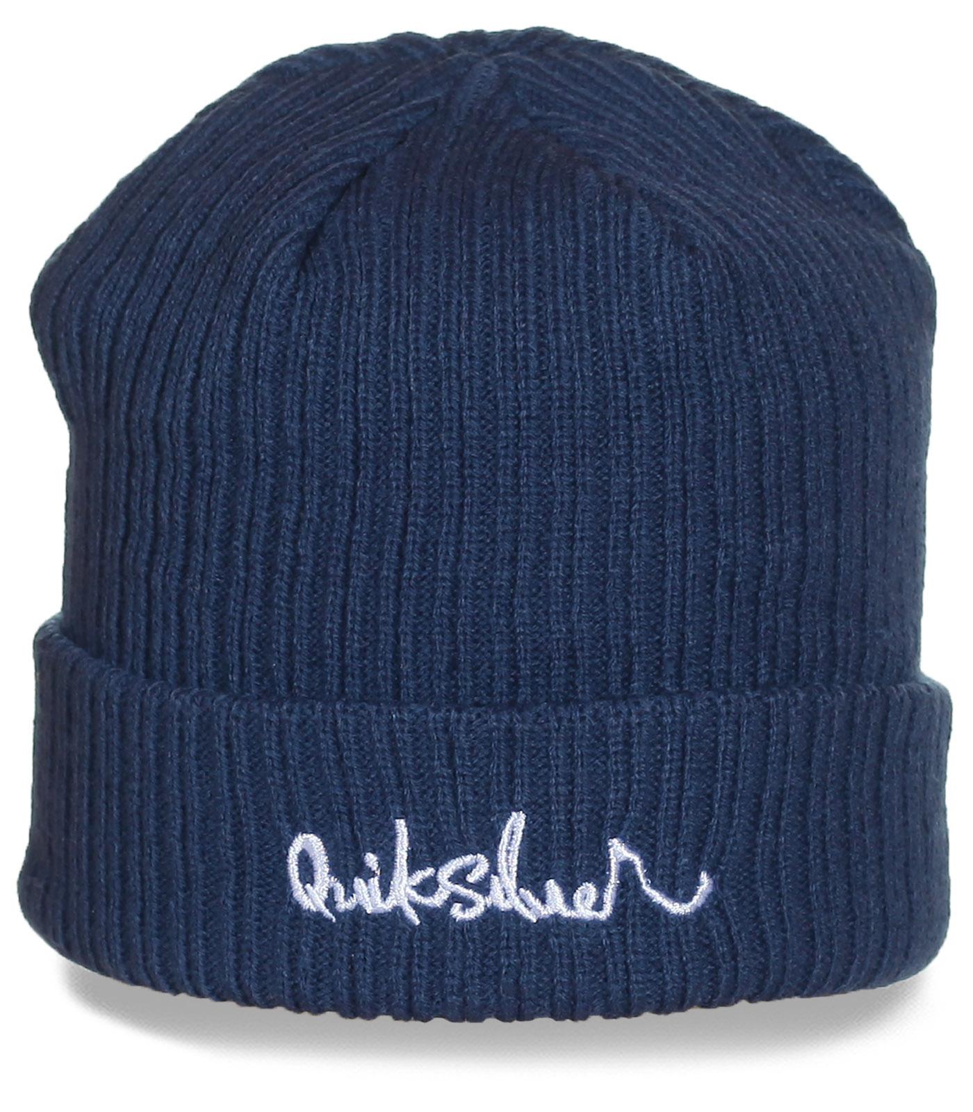 Оригинальная вязаная шапка Quiksilver. Брендовая вещь по доступной цене!