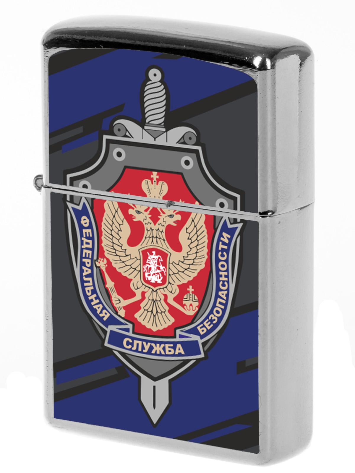 Оригинальная зажигалка ФСБ бензиновая купить выгодно