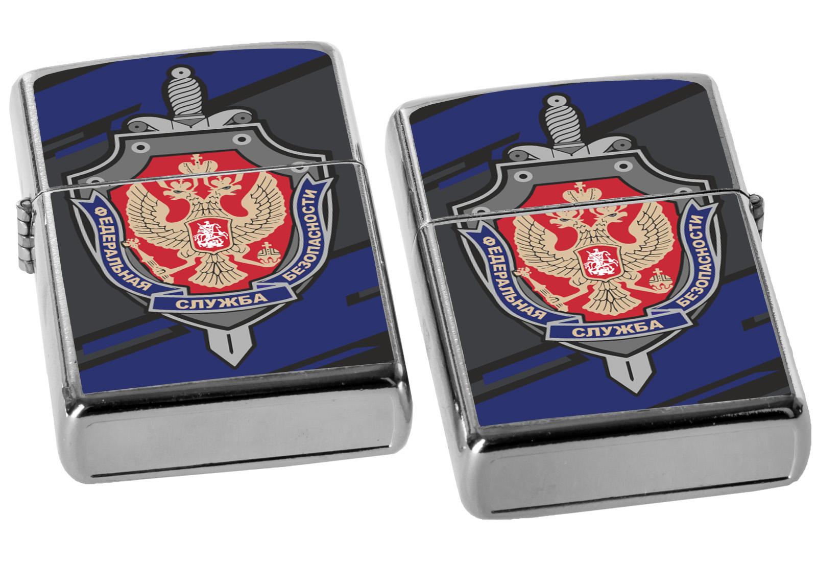 Оригинальная зажигалка ФСБ бензиновая купить в подарок