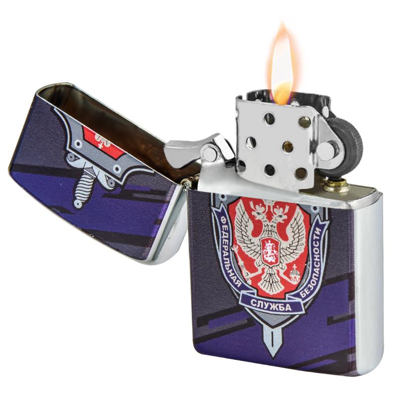 Оригинальная зажигалка ФСБ бензиновая