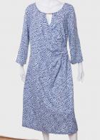 Оригинальное платье с интересным принтом от Longbao