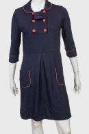 Оригинальное строгое платье с круглым воротником от LOUCHE