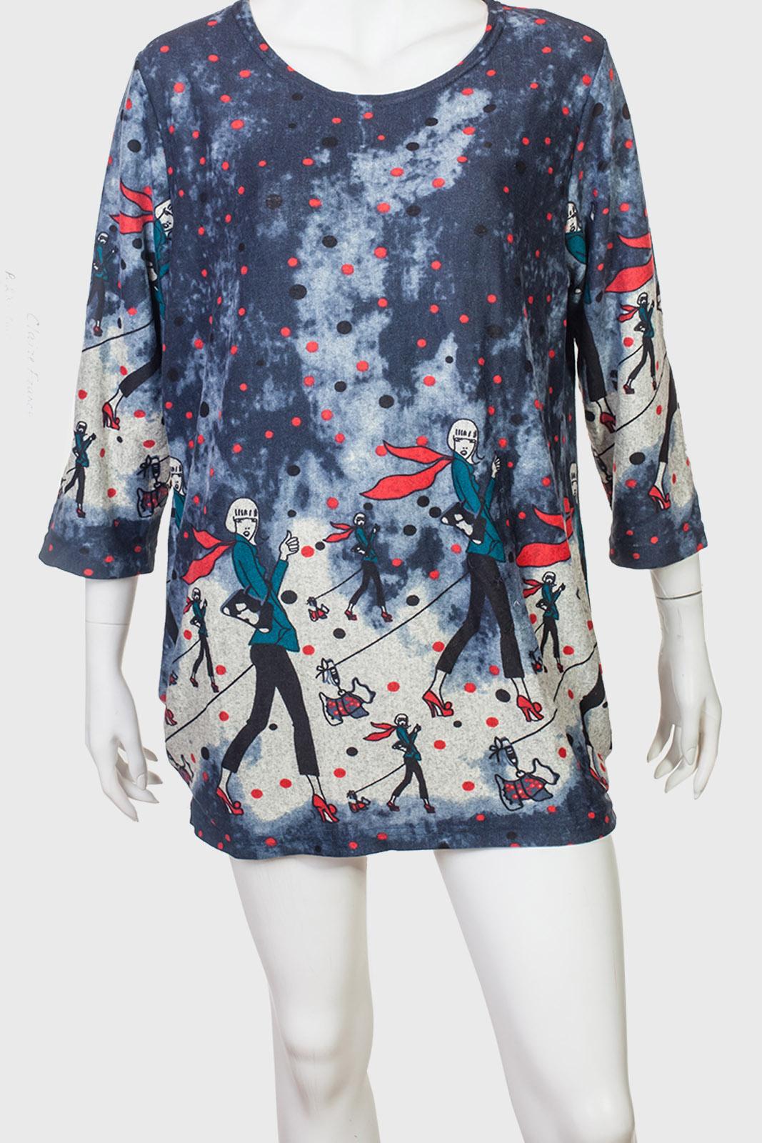 Оригинальное теплое платье-туника от AMIE с яркими мотивами