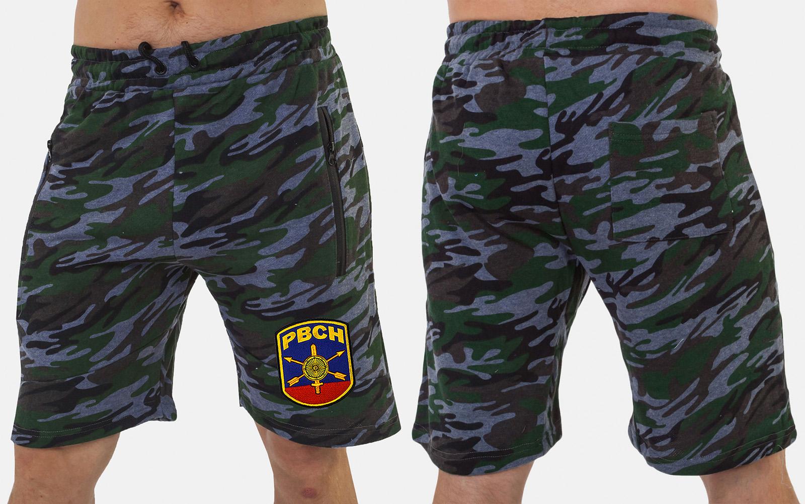 Оригинальные камуфляжные шорты с нашивкой РВСН - заказать с доставкой
