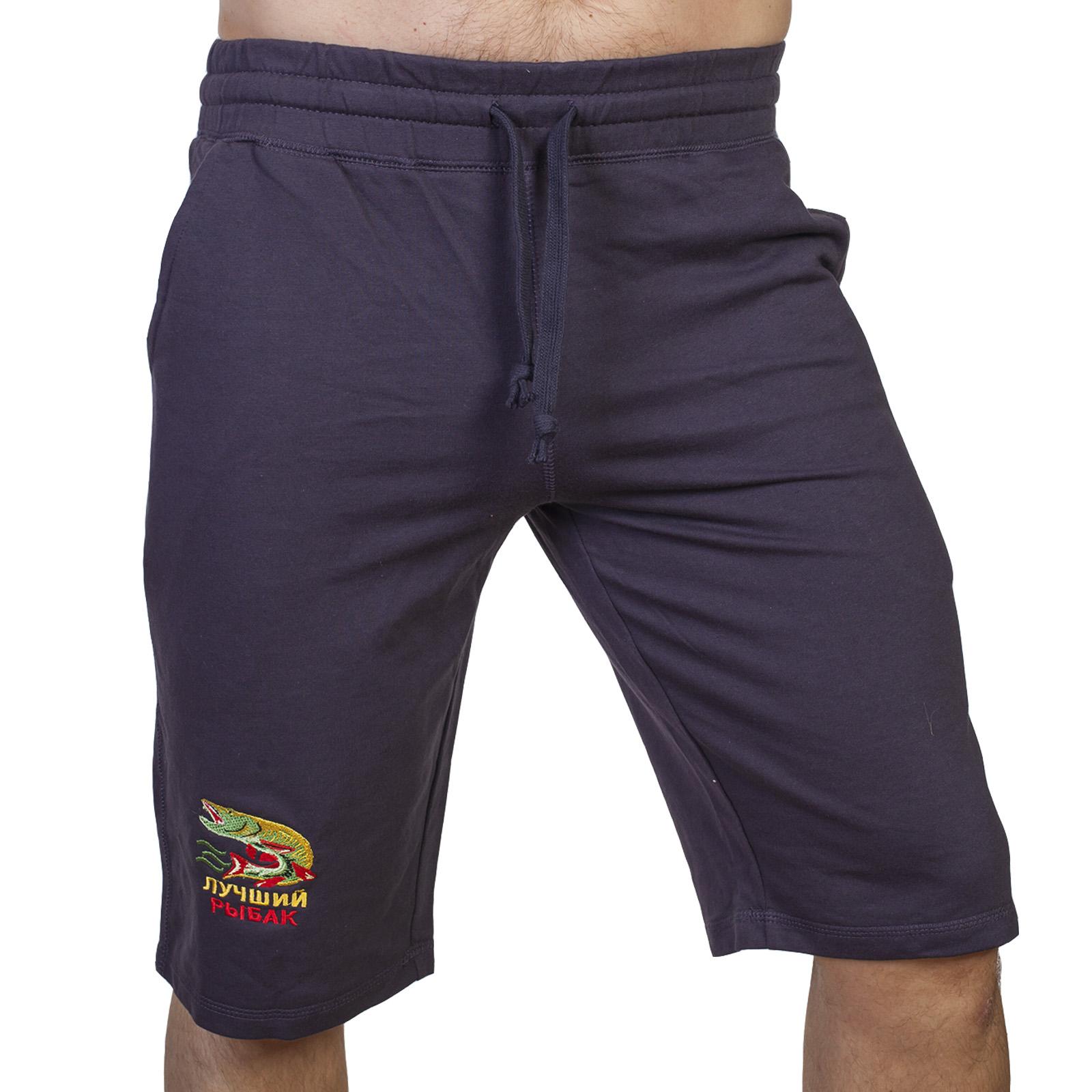 Оригинальные мужские шорты с вышивкой Лучший Рыбак - лучшее качество, отличная цена, идеальный подарок!