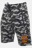 Оригинальные свободные шорты с нашивкой герб России