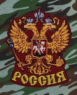 Оригинальные свободные шорты с нашивкой Россия