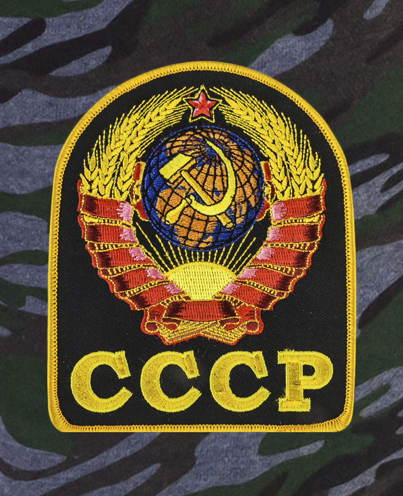 Оригинальные удлиненные шорты с карманами и нашивкой СССР