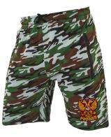Оригинальные удлиненные шорты с нашивкой Россия