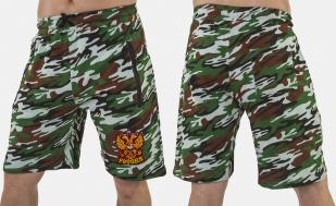 Оригинальные удлиненные шорты с нашивкой Россия - купить в подарок