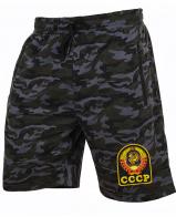 Оригинальные удлиненные шорты с нашивкой СССР