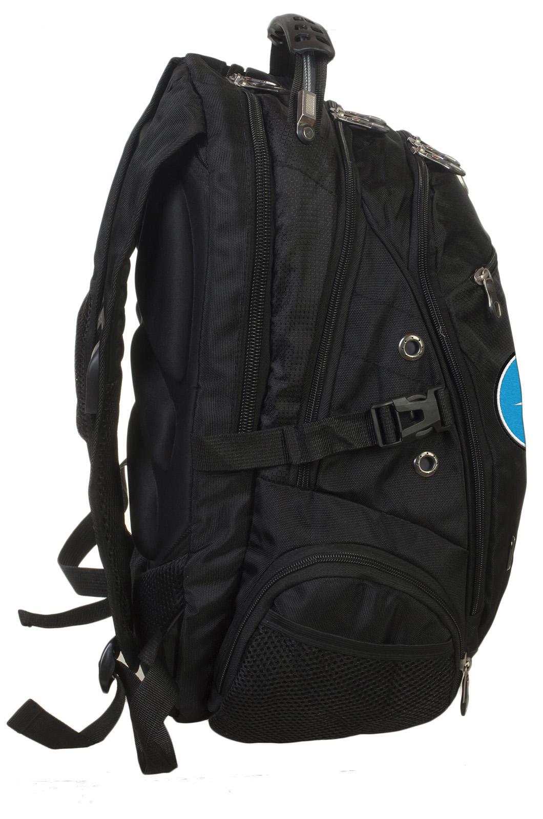 Заказать оригинальный черный рюкзак с эмблемой МЧС