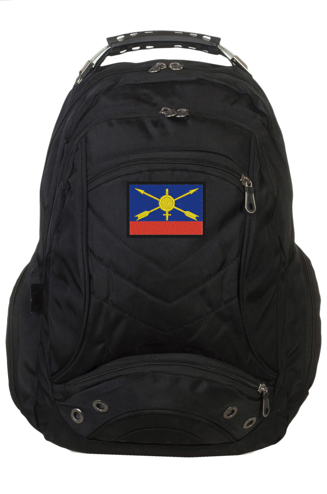 Оригинальный черный рюкзак с эмблемой РВСН