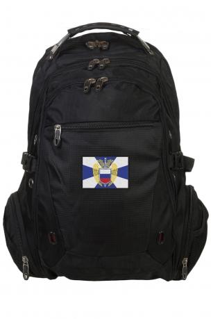 Оригинальный черный рюкзак с нашивкой ФСО