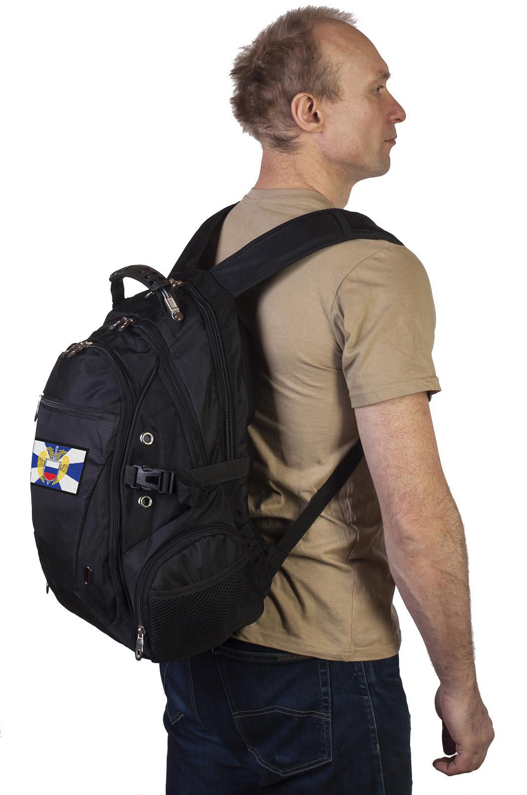Оригинальный черный рюкзак с нашивкой ФСО купить в подарок