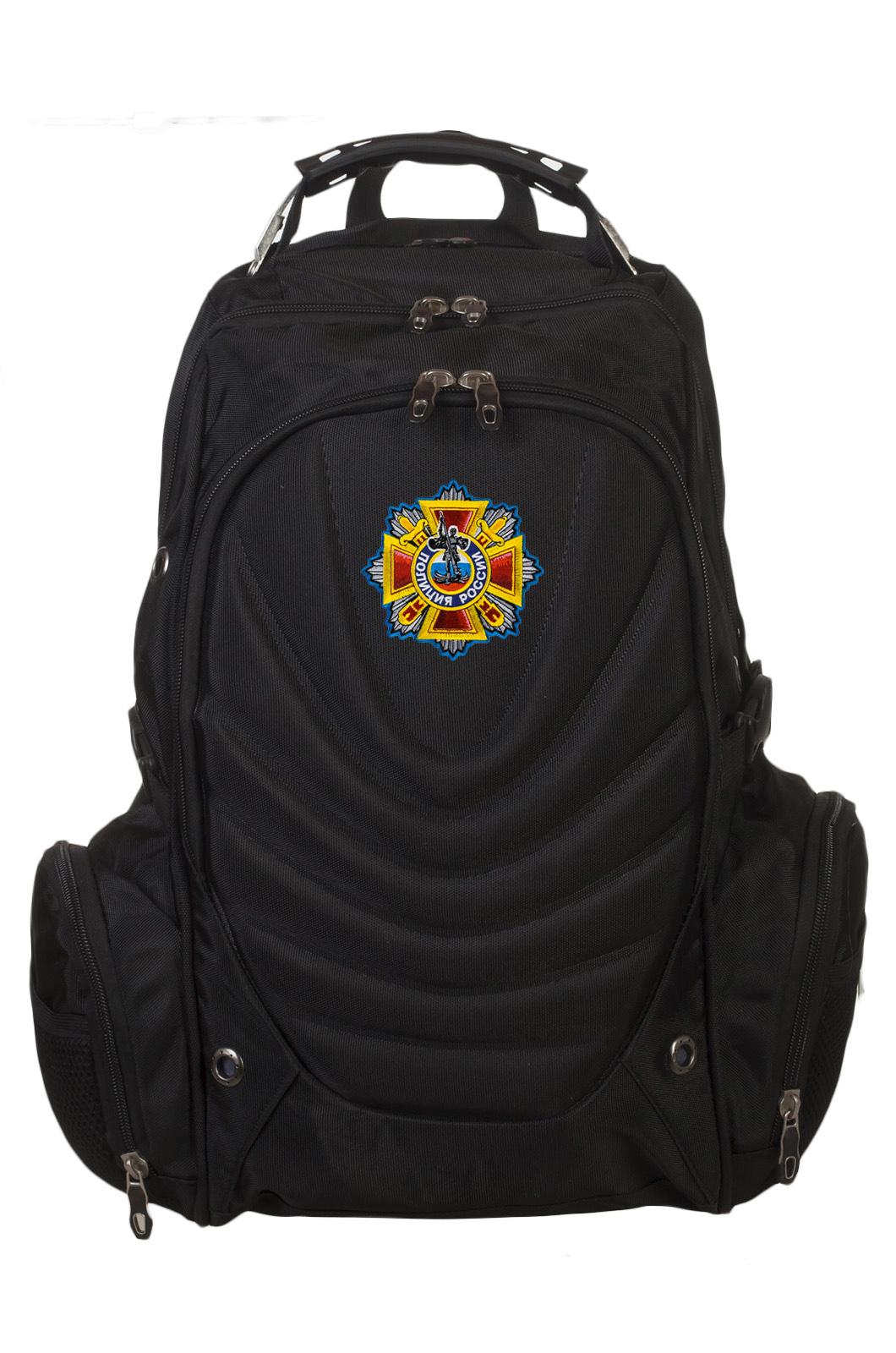 Купить оригинальный черный рюкзак с нашивкой Полиция России