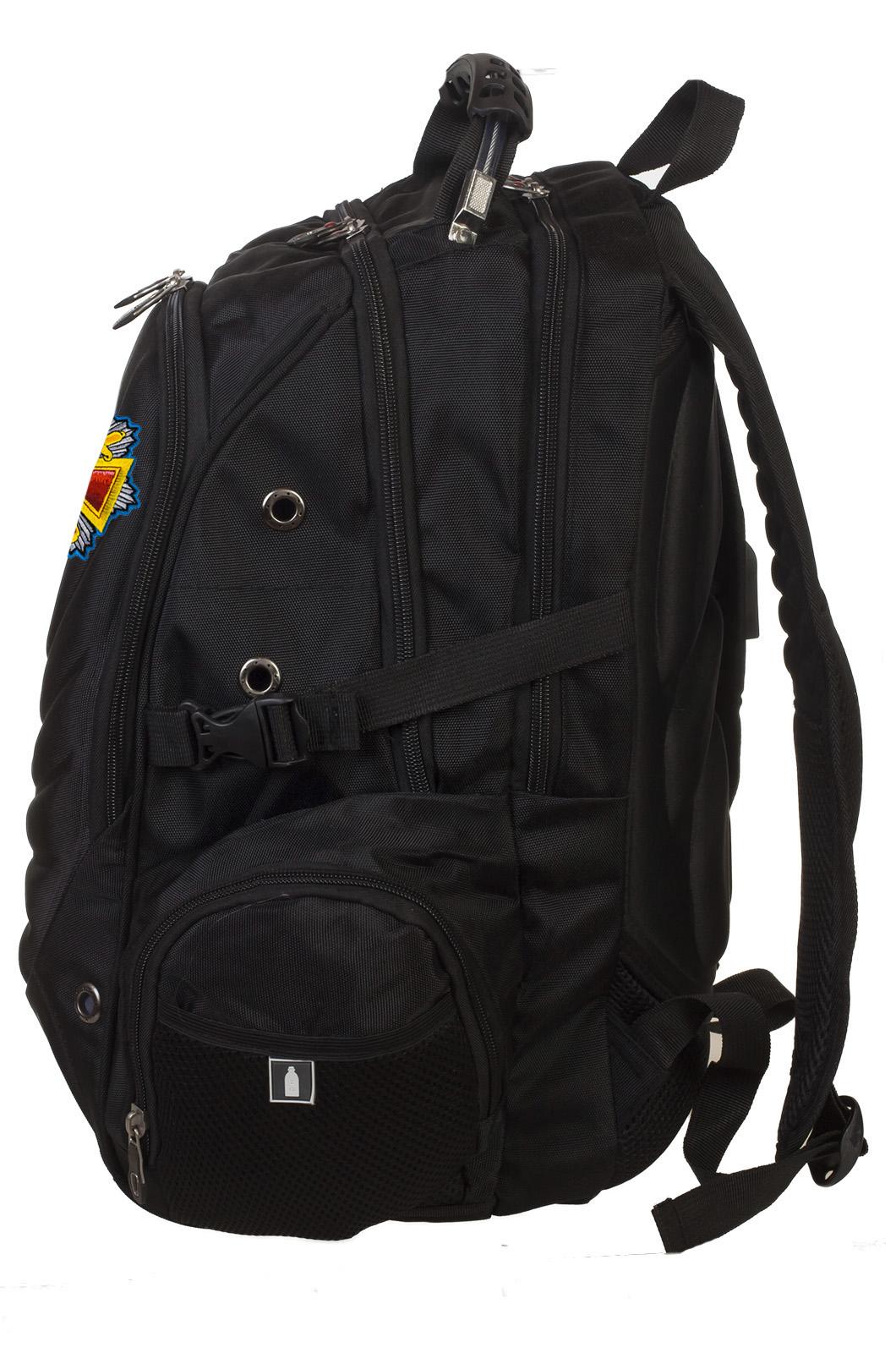 Оригинальный черный рюкзак с нашивкой Полиция России купить выгодно