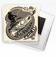 Оригинальный магнит Рыбак рулит