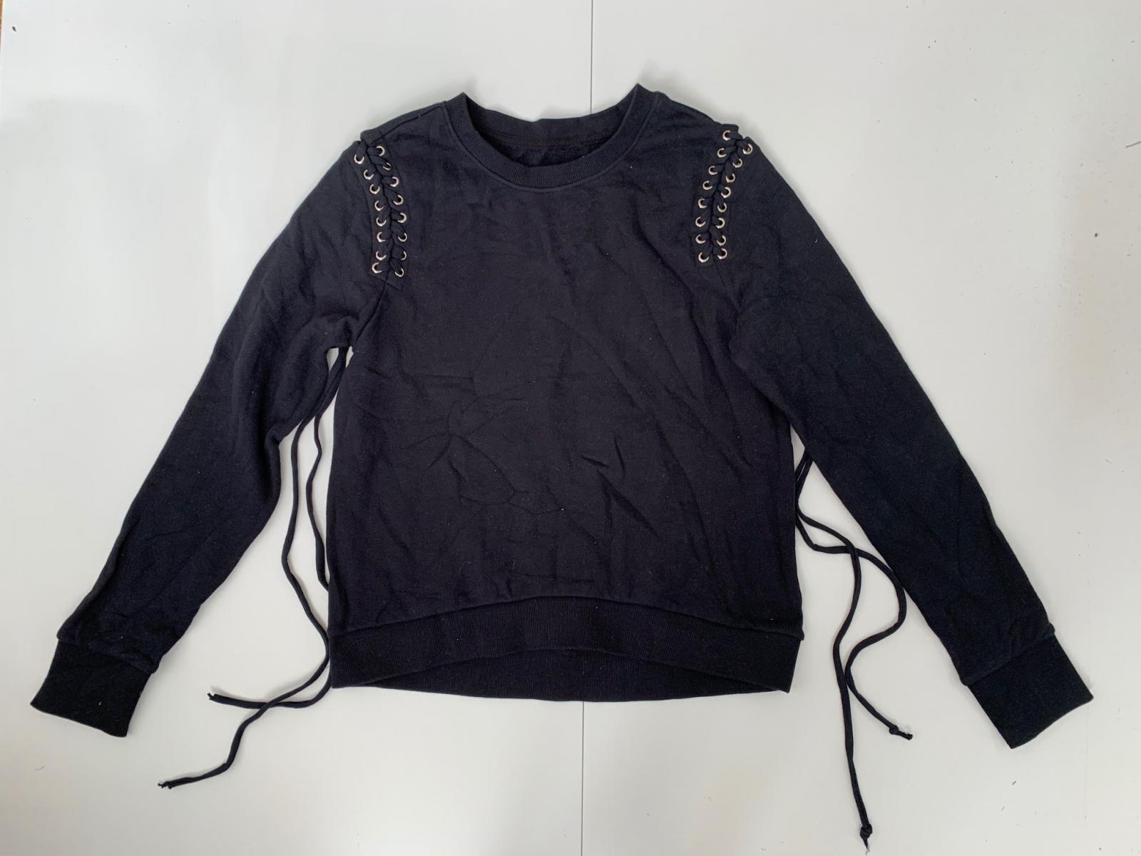 Оригинальный женский свитшот черного цвета