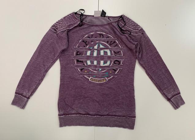Оригинальный женский свитшот цвета бордо