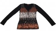 Ослепительно нарядная кофточка из пайеточной ткани от бренда Rock&Roll CowGirl