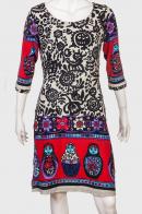 Ослепительное женское платье с интересным принтом от Le Grahier