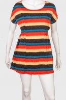 Ослепительное женское платье с ярким принтом