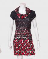 Ослепительное женское платье с ярким принтом от Adagatti