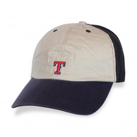 Особенная бежево-синяя кепка T