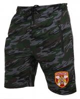 Особенные камуфляжные шорты с карманами и нашивкой Росгвардия