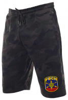 Особенные камуфляжные шорты с карманами и нашивкой РВСН