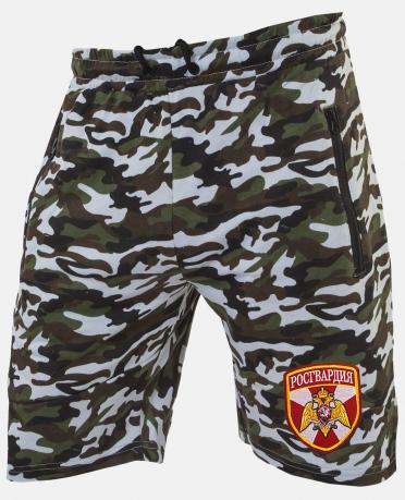 Особенные камуфляжные шорты с нашивкой Росгвардия