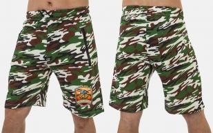 Особенные камуфляжные шорты с нашивкой Русская Охота - купить в подарок