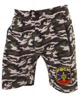 Особенные камуфляжные шорты с нашивкой РВСН