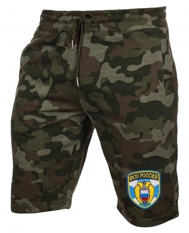 Особенные милитари шорты с нашивкой ФСО