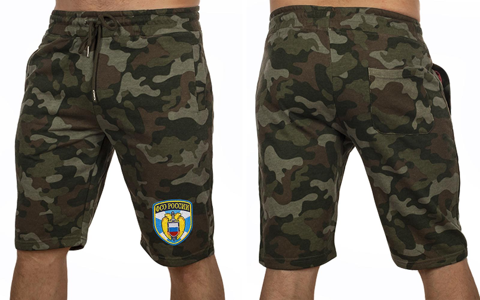 Особенные милитари шорты с нашивкой ФСО - купить с доставкой