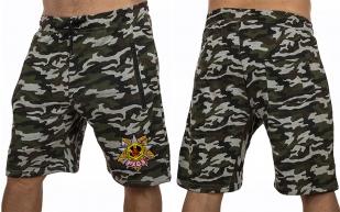Особенные милитари шорты с нашивкой РХБЗ - заказать выгодно