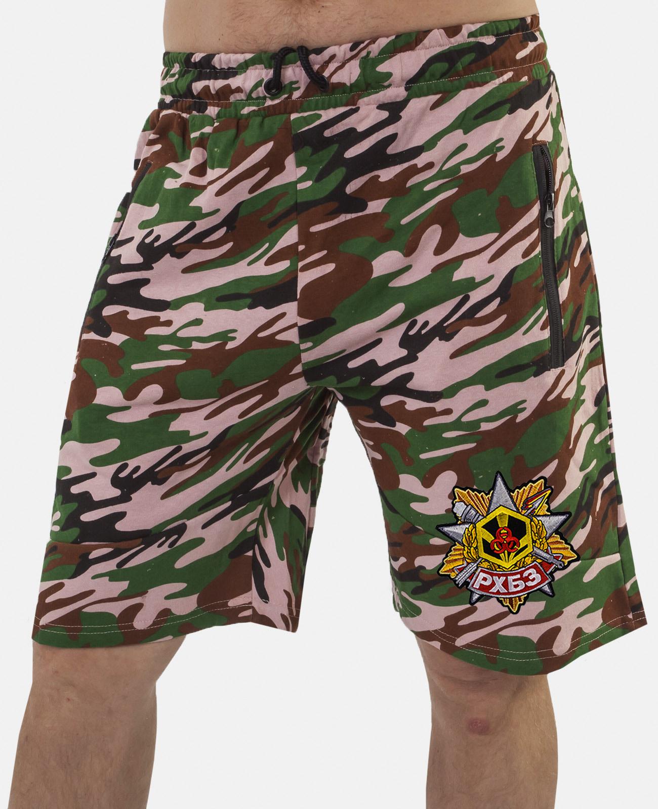 Купить особенные удлиненные шорты с нашивкой РХБЗ с доставкой выгодно