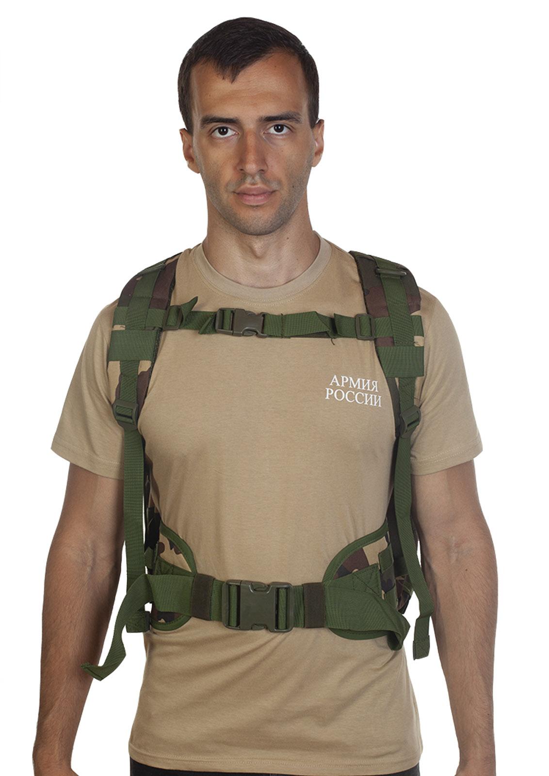 Высокопрочный военный рюкзак камуфляжа Woodland - в Военпро