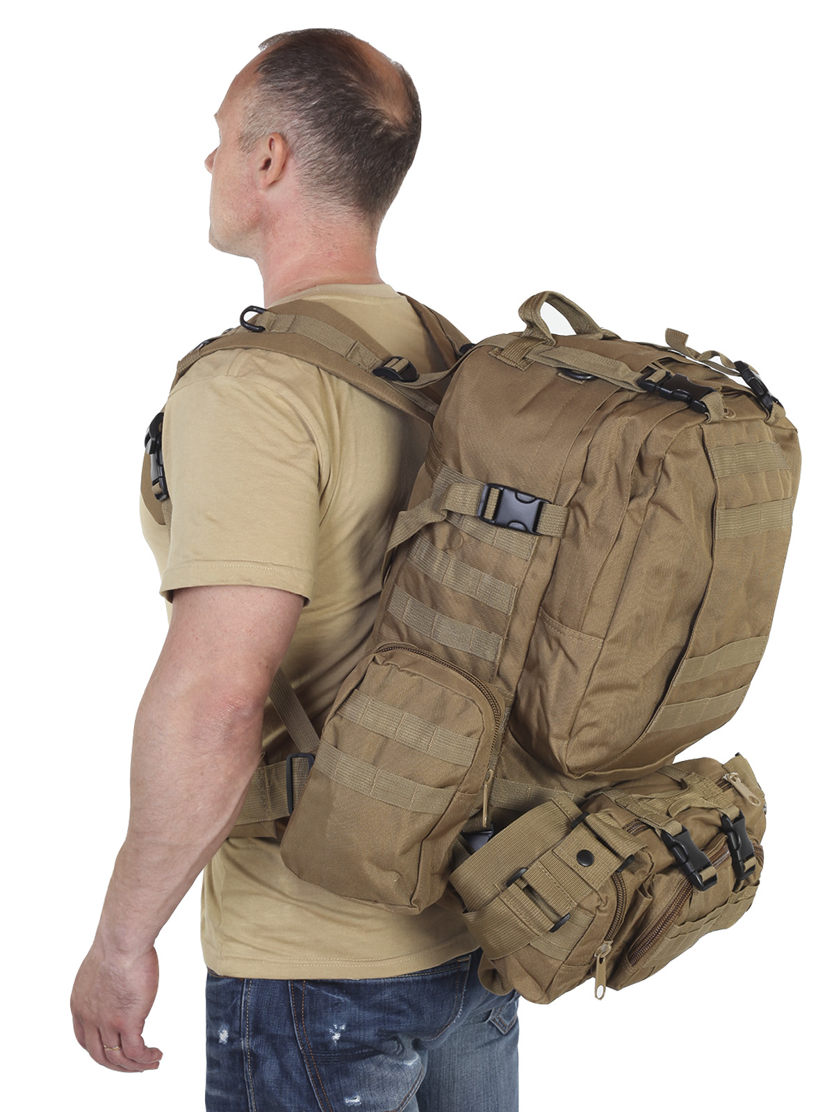Особопрочный военный рюкзак для рыбаков и охотников 35-50 л