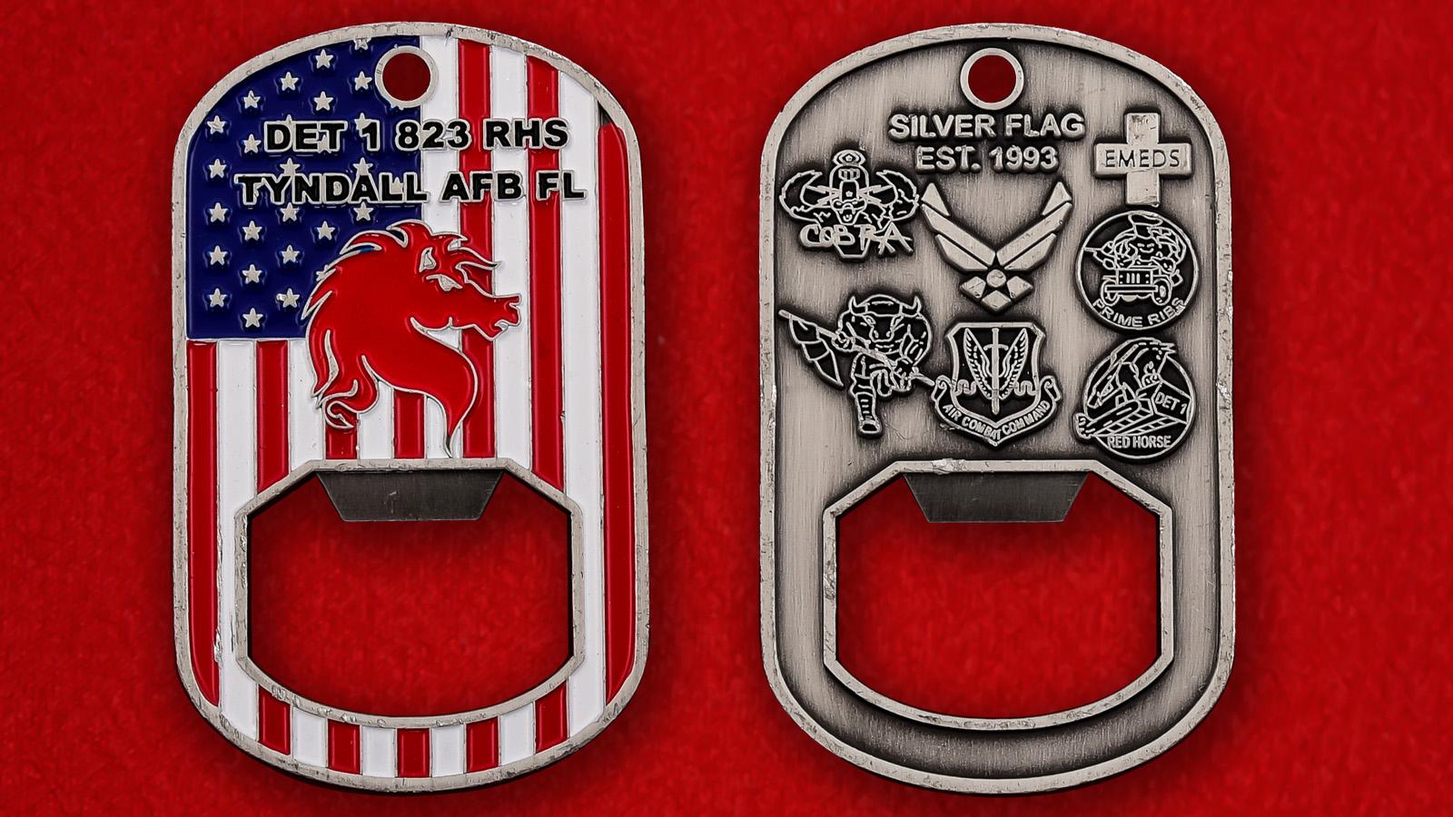 """Открывашка """"823-я Оперативная инженерно-техническая эскадрилья  Red Horse, авиабаза Тиндалл"""""""