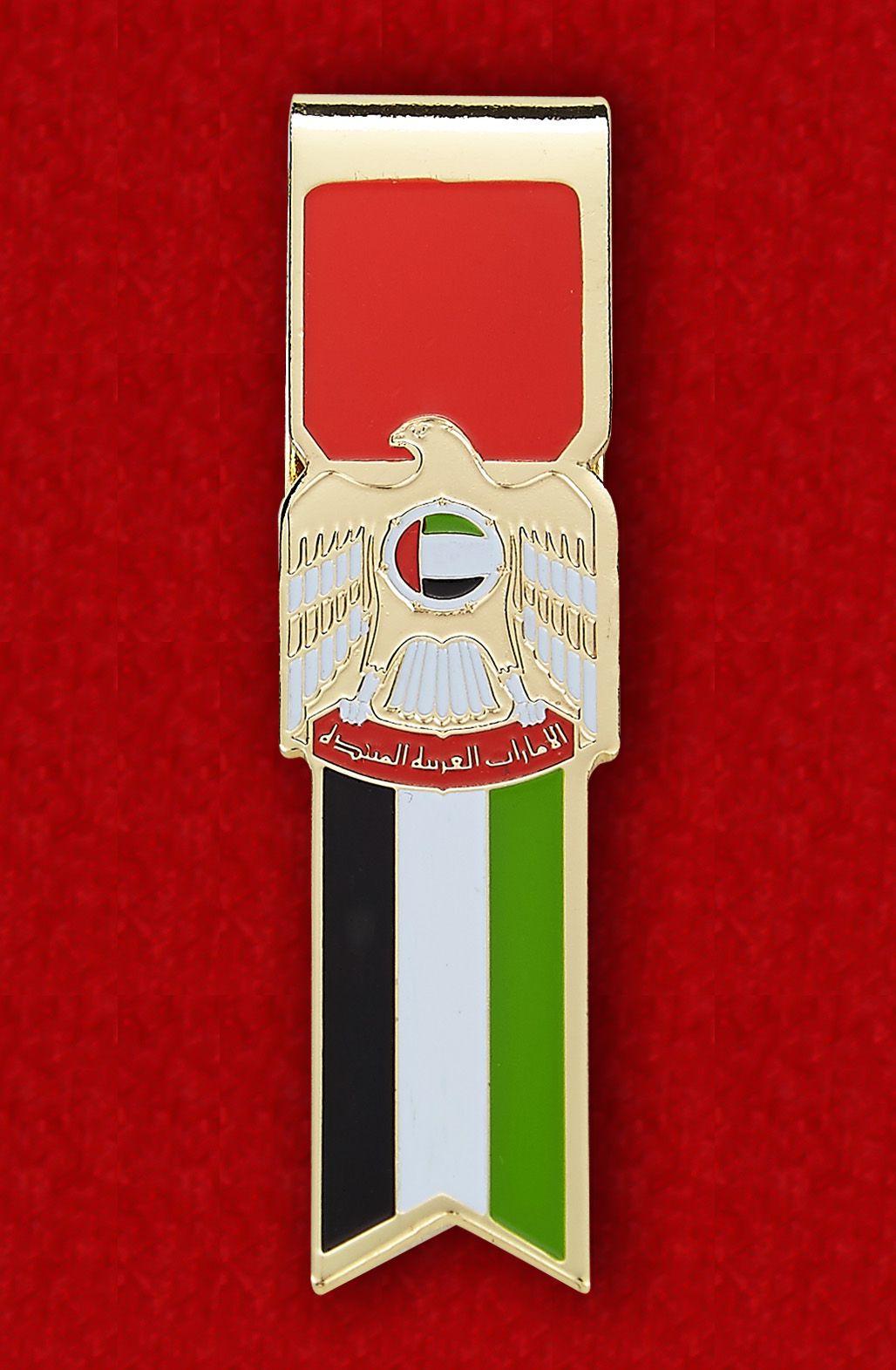 """Зажим для галстука """"Герб и флаг ОАЭ"""""""