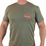 Купить отличную футболку с патриотичной эмблемой