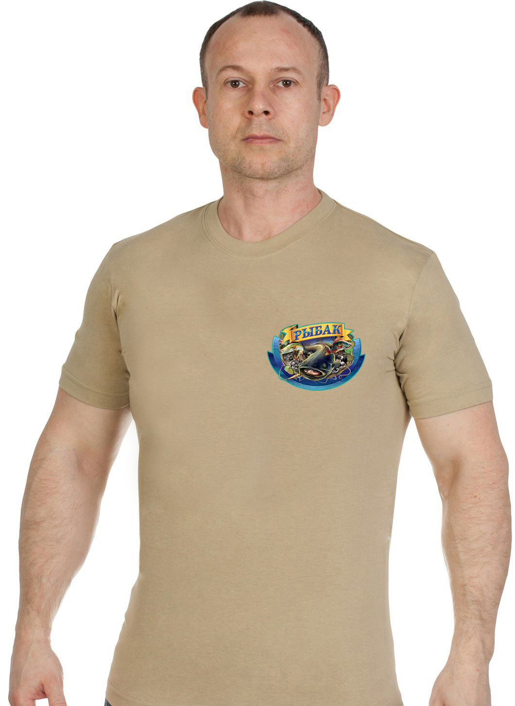 Отличная трикотажная футболка рыбака - купить выгодно